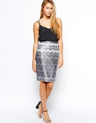 Traffic People Lace Embrace Wiggle Skirt Black