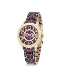 Just Cavalli Just Havana Pink Animal Print Women's Watch