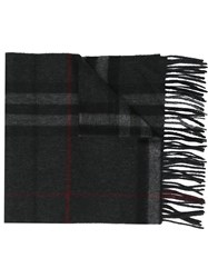 Burberry Plaid Scarf Grey