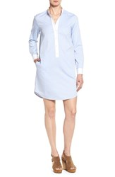 Michael Michael Kors Women's Stand Collar Shirtdress Shore Blue
