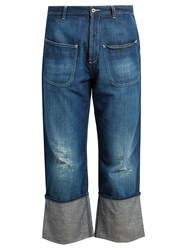 Loewe Fisherman Distressed Jeans Blue