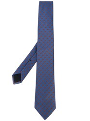 Gucci Monogram Tie Men Silk One Size Blue