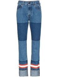 Calvin Klein 205W39nyc Fire Tape Applique Straight Jeans Blue