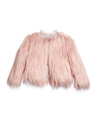 Appaman Open Front Faux Fur Coat Size 4 14