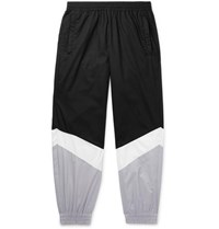 Vetements Tapered Panelled Coated Cotton Sweatpants Black