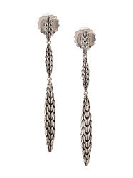 John Hardy Sterling Silver Classic Chain Spear Linear Earrings