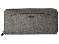 Tumi Sinclair Zip Around Continental Earl Grey Continental Wallet Gray