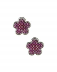 Lagos 18Mm Ruby Flower Stud Earrings Red