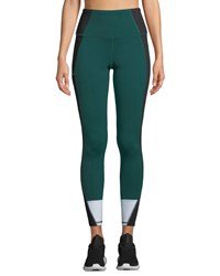 The North Face Perfect Core High Rise Performance Tights Green Pattern
