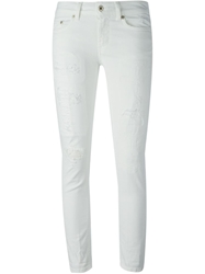 Dondup Distressed Skinny Jeans White