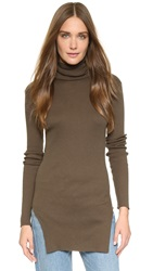 Helmut Lang Fitted Turtleneck Top Marsh