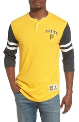 Mitchell And Ness Men's Home Stretch Pittsburgh Pirates Henley