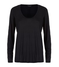 The Row Baxerton Long Sleeve Scoop Neck T Shirt Female
