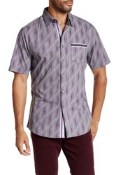 Smash Printed Short Sleeve Woven Shirt Gray