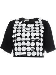 Mcq By Alexander Mcqueen Mcq Alexander Mcqueen Metallic Disc Embellished Top Black