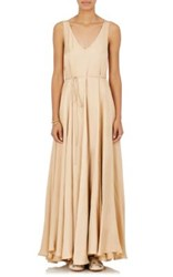 The Row Women's Arti Belted Maxi Dress Gold