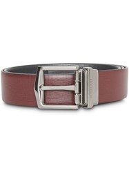 Burberry Reversible London Leather Belt Red