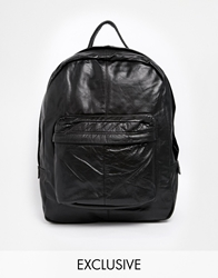 Reclaimed Vintage Leather Backpack Black