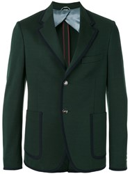Gucci Bee Embellished Blazer Green