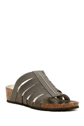 Italian Shoemakers Arch Wedge Sandal Gray