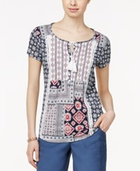Styleandco. Style And Co. Short Sleeve Peasant Top Only At Macy's American Scarf