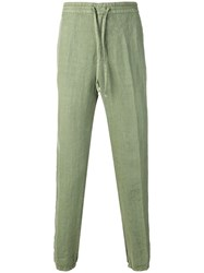 Z Zegna Drawstring Track Trousers Green