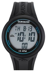 Men's Quiksilver 'The Barrel' Silicone Strap Watch 47Mm Black Silicon