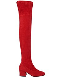 Dorateymur 60Mm Sybil Suede Over The Knee Boots