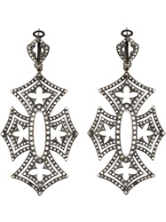 Loree Rodkin 'Shadow Cross' Earrings Black