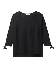 White Stuff Petunia Tie Sleeve Jumper Black