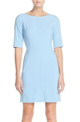 Women's Tahari Seamed A Line Dress Bahama Blue