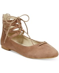 Rialto Sondra Lace Up Flats Women's Shoes Taupe