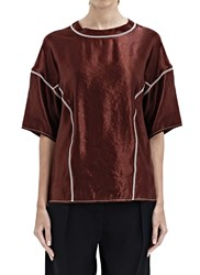 Lanvin Shiny T Shirt Top Purple