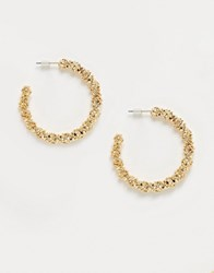 Accessorize Exclusive Textured Hoop Earrings In Gold