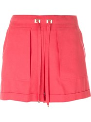 Blumarine Drawstring Shorts Pink And Purple