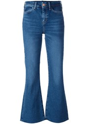 Mih Jeans 'Lou' Flared Cropped Blue