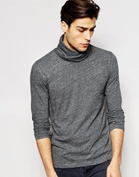 Minimum Long Sleeve Top With Cowl Neck Grey