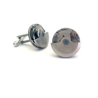 Lc Collection Vintage Automatic Watch Movement Cufflinks Silver