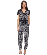Adrianna Papell Drop Shoulder Jumpsuit Navy Ivory Women's Jumpsuit And Rompers One Piece Blue