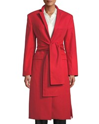 Maggie Marilyn Trust Your Instincts Wool Cashmere Long Coat Red