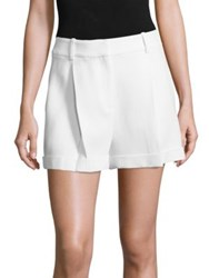 Michael Kors Pleated Solid Shorts Optic White