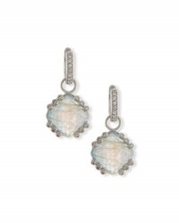 Jude Frances Labradorite And Blue Topaz Earring Charms With Diamonds