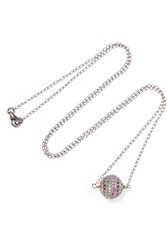 Ileana Makri Iam By Rainbow Silver Tone Crystal Necklace One Size