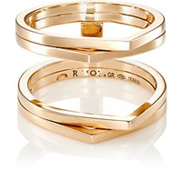 Repossi Women's 4 Row Antifer Cage Ring Pink