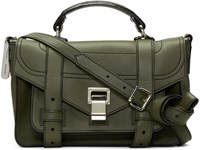 Proenza Schouler Green Tiny Ps1and Satchel