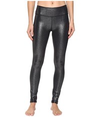 Beyond Yoga Essential Long Leggings Black Silver Foil Women's Casual Pants