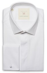 Strong Suit By Ilaria Urbinati Slim Fit Tuxedo Shirt White