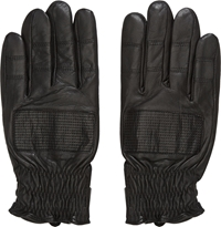 Surface To Air Black Leather Cut Gloves