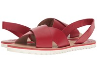 Sebago Sidney Slingback Red Leather Women's Shoes