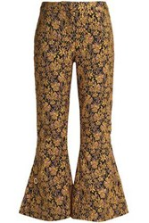 Mother Of Pearl Jacquard Flared Pants Saffron